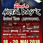 18/19/20 MAY 2018 UNIVERSE LIVE AT ROCK METAL DAYZ